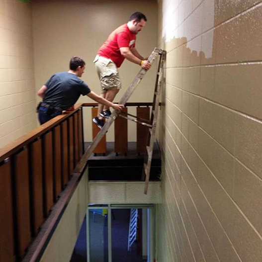 Ladder safety  try not too work like this.-imageuploadedbyhvac-site1418696427.936256.jpg