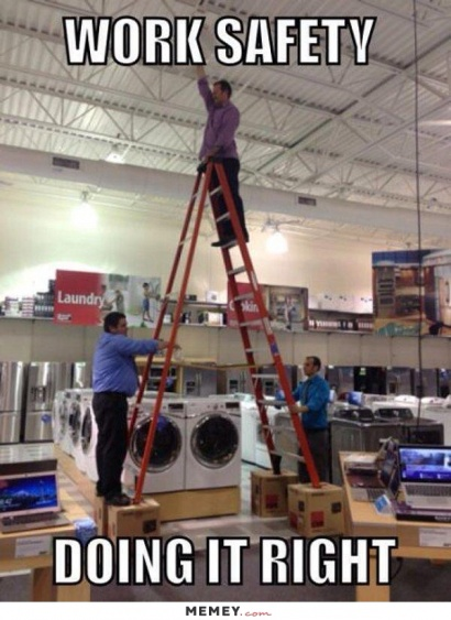 Ladder safety  try not too work like this.-imageuploadedbyhvac-site1418696451.811688.jpg